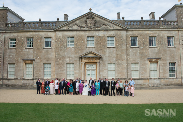 Group photo in front of the Mansion House