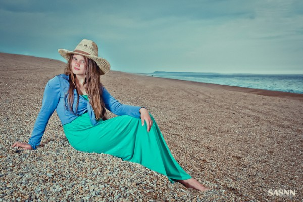 Portrait of the girl at the seaside