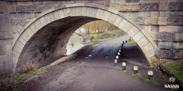Road under Avoncliff aqueduct