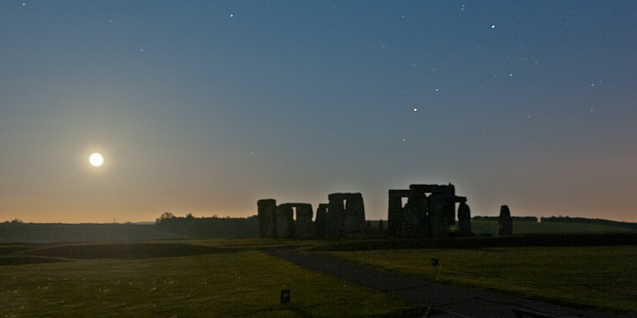 Stonehenge at Full moon
